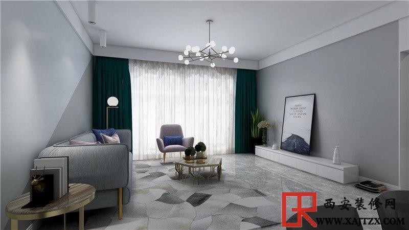 极简轻奢风两室一厅装修效果图