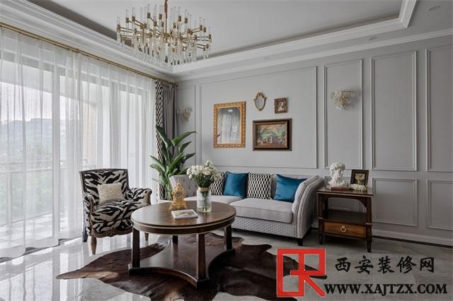 现代美式风三居室的装修,高级灰的颜色搭配!