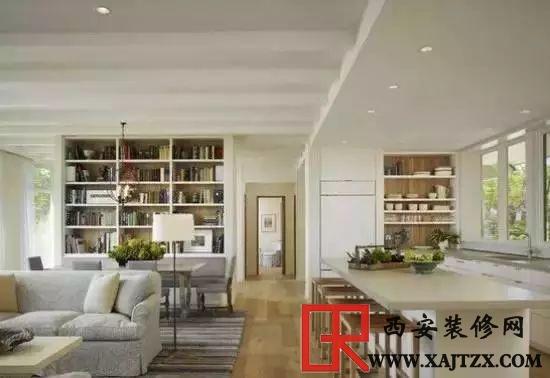 客厅最省钱装修效果图 客厅餐厅厨房一体设计,空间明亮通透