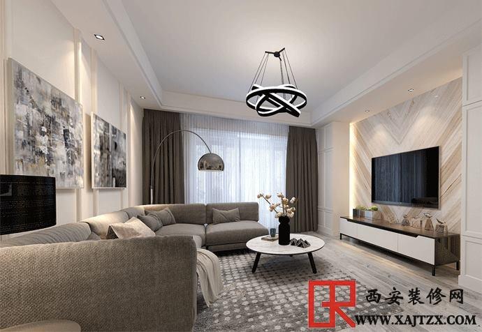 西安精装房装修:客厅电视背景墙材料就该这样选,环保又省钱