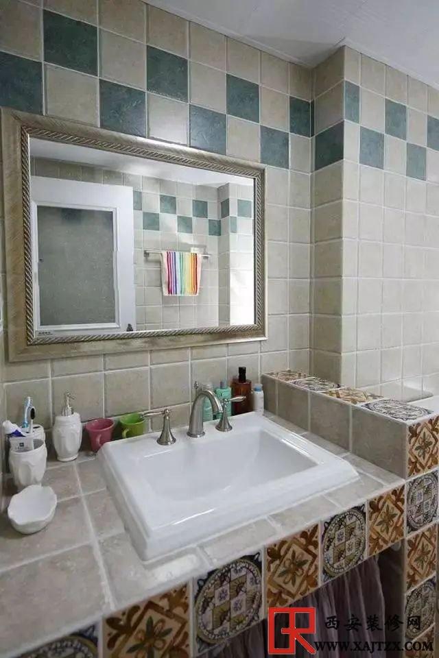 卫生间,砖砌洗手台,省钱环保防潮还耐用