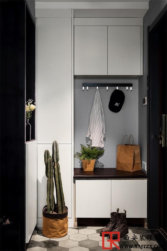 小户型玄关装修,好用的鞋柜是有灵魂的设计,有颜值又方便使用